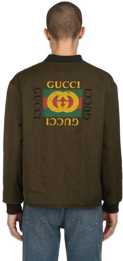 Gucci Reversible Satin Bomber Jacket