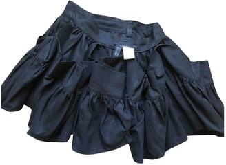 Limi Feu Black Cotton Skirt for Women