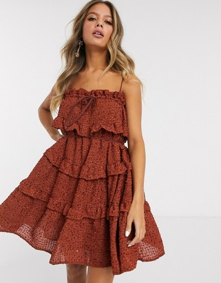 C/Meo Everything Goes ruffle mini dress