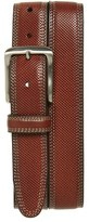 Johnston & Murphy Men's Textured Leather Belt