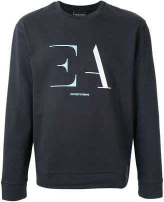 Emporio Armani Long Sleeve Logo Print Sweater