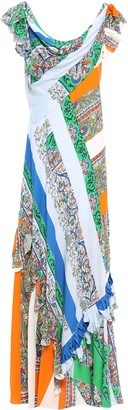 Tory Burch Grand Voyage Ruffled Printed Voile Maxi Dress