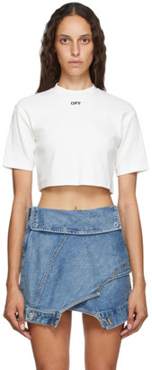 Off-White White Cropped Off T-Shirt