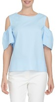 CeCe Women's Tie Back Poplin Top