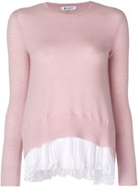 Dondup pleated detail jumper - women - Polyester/Cashmere/Merino - S