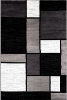 Asstd National Brand Alpine Squares Rectangular Rug