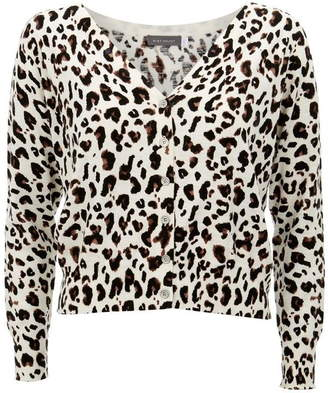 Mint Velvet Animal Button Front Cardigan