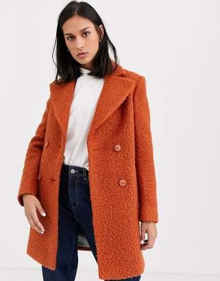 Gianni Feraud check oversized pea coat-Brown
