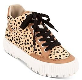 Dolce Vita Women's Rose Leopard Print Platform Sneakers