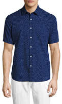 Toscano Short Sleeve Dot Print Sportshirt