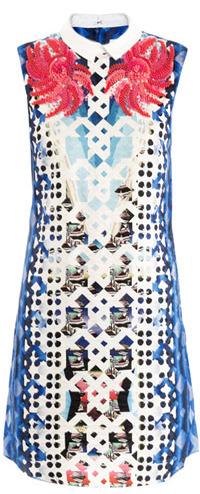 Peter Pilotto Flower embellished print dress