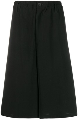 Yohji Yamamoto Knee-Length Wide-Leg Shorts