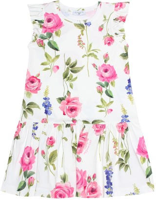 MonnaLisa Floral-printed stretch cotton dress