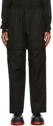 Bottega Veneta Black Gabardine Zippered Trousers