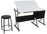 studio designs Eclipse Hobby Table with Stool - Black/White