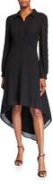 N. Shani High-Low Georgette Shirtdress