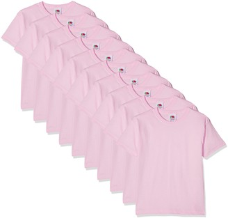 Fruit of the Loom Boy's T-Shirt (Pack of 10) (Light Pink) Years (Size: 14-15) (pack of 10)