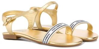Dolce & Gabbana Kids Logo Trim Sandals