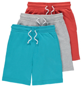 George 3 Pack Assorted Shorts