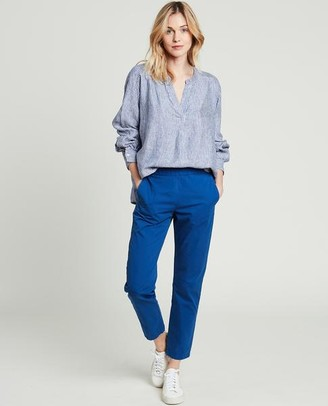 Hartford Canyon Striped Linen Shirt - Size 1 UK8
