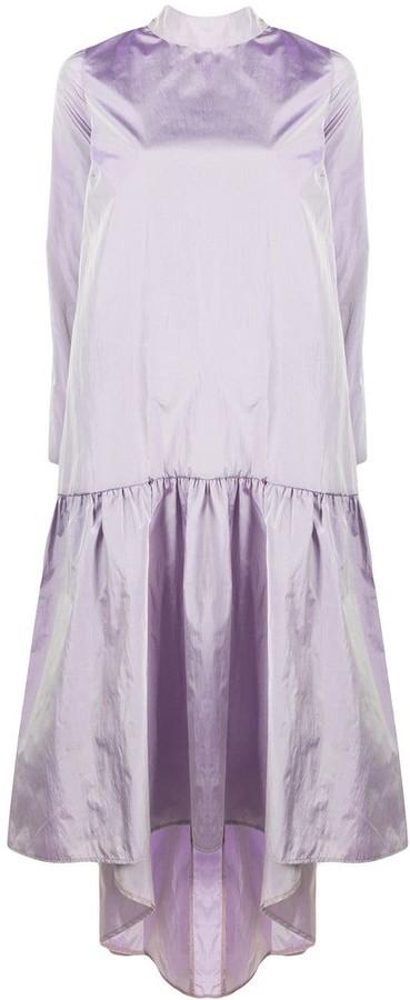 Loulou Metallic-Sheen Midi Dress