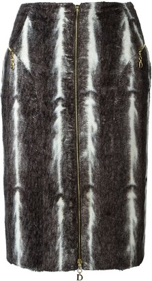 Christian Dior Pre-Owned Faux Fur Skirt