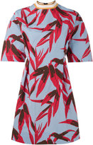 Marni leaf print skater dress - women - Cotton/Linen/Flax/Silk - 44