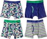 Trimfit Little Boys' 100 Percent Cotton Tagless Assorted Boxer Briefs 4-Pack (, XS)