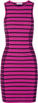 Opening Ceremony Striped stretch-knit mini dress