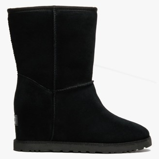 UGG Classic Femme Short Black Suede Ankle Boots