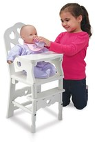 Melissa & Doug Toddler Wooden Doll Highchair