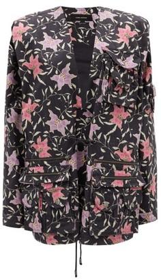 Isabel Marant Galdino Floral-print Cotton Jacket - Black Multi