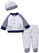 Little Me Boys' Safari Buddies Shirt, Footie Pants & Hat Set