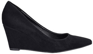 Siren Brodie Black Suede Heeled Shoes