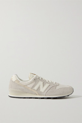 New Balance 996 Suede, Mesh And Leather Sneakers - Light gray