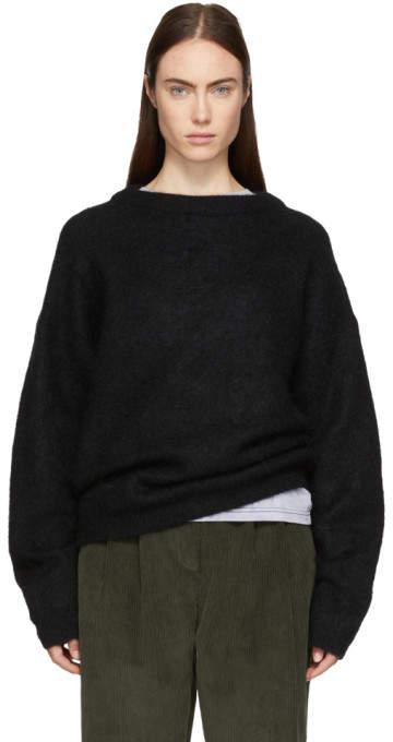 Acne Studios Black Dramatic Crewneck Sweater