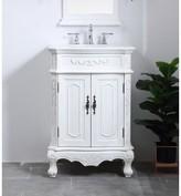 """Jeremiah 27"""" Single Bathroom Vanity Set Charlton Home Base Finish: Antique White"""