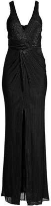 Parker Black Monarch Beaded Silk Gown