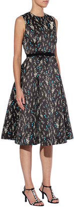 Erdem Floral Mikado Fit & Flare Dress