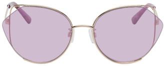 McQ Purple Geometric Iconic Sunglasses