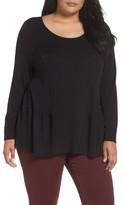 Sejour Plus Size Women's Peplum Sweater