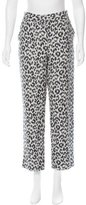 3.1 Phillip Lim Leopard Pattern Straight Leg Pants