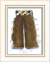 The Well Appointed House Cowboy Chaps Framed Wall Art for Kids