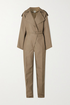 Bottega Veneta Belted Drill Jumpsuit - Beige