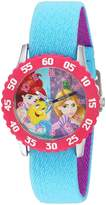 Disney Girl's 'Rapunzel' Quartz Stainless Steel and Nylon Casual Watch, Color: (Model: WDS000055)