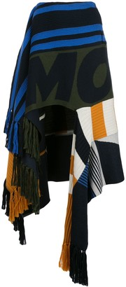 Monse Draped Scarf Patchwork Skirt