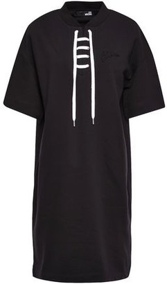 Love Moschino Lace-up Cotton-terry Dress