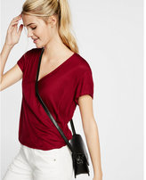 Express cut-out back surplice top