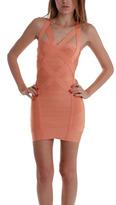 Bandage Strap Dress in Papaya