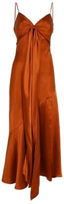 Nicholas Draped Silk Slip Dress